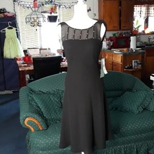 🆕️ NWT Jones Wear Dress black w sheer sequins